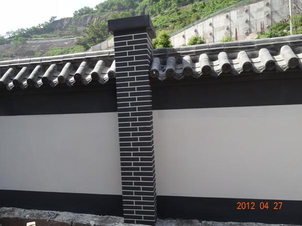 砖砌围墙效果图及做法